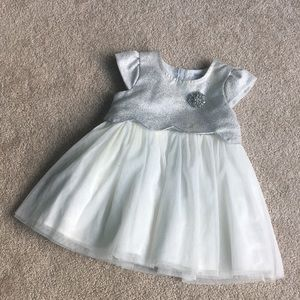 🔸8/$25🔸 Silver Party Dress Baby Girl 12-18